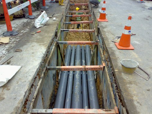 Bury High Voltage Power Cables : Power works pte ltd singapore